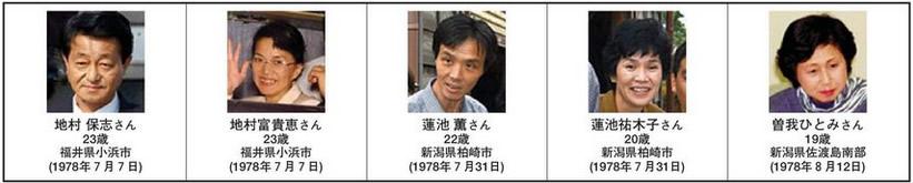 平成14(2002)年10月15日に帰国した5人